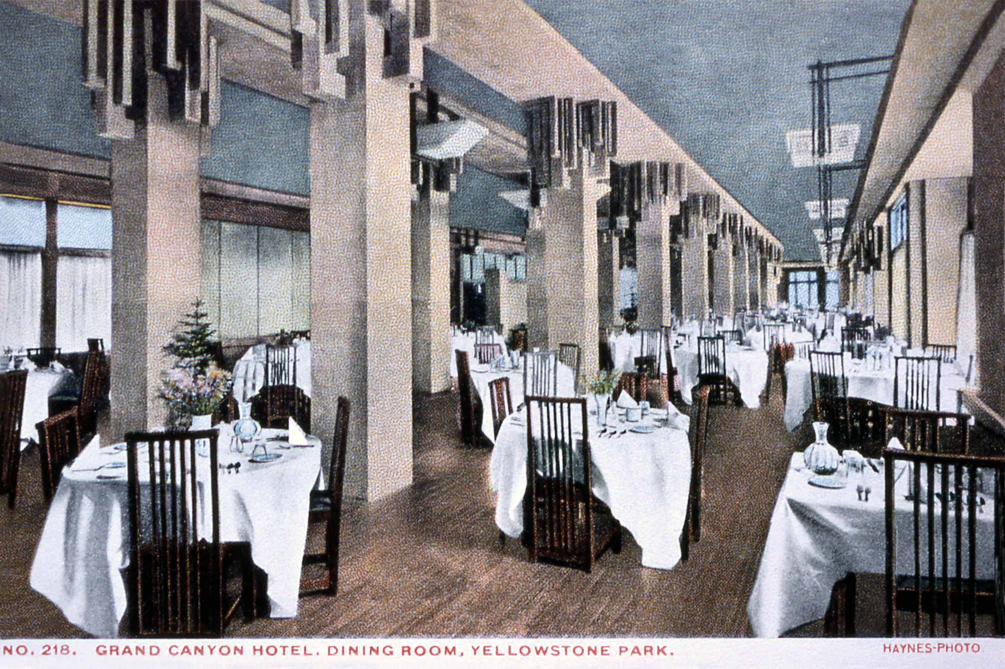 lake yellowstone hotel dining room. Postcard  218 Grand Canyon Hotel Dining Room Frank J Haynes No date Yellowstone History Insider