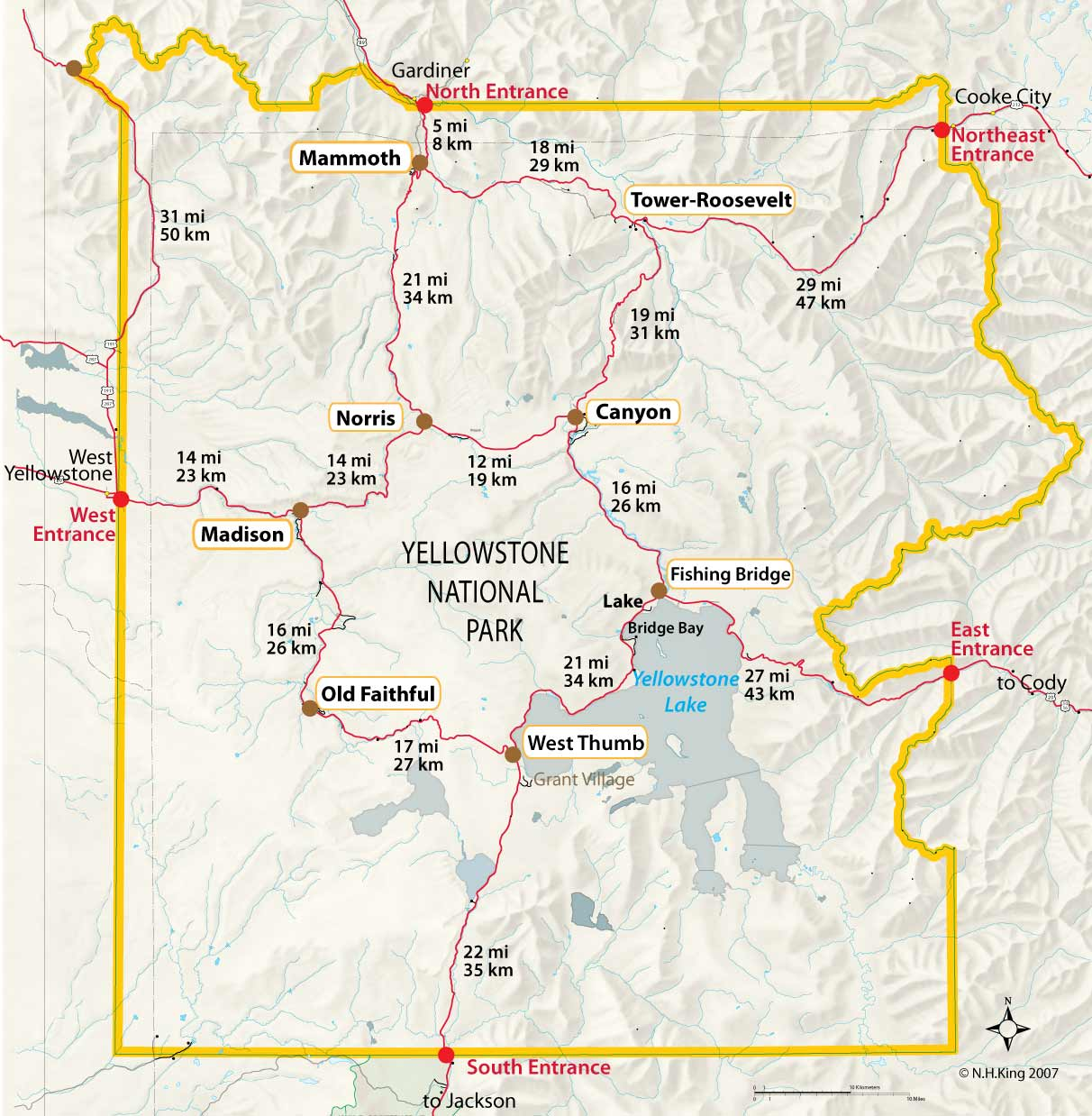 Yellowstone Park Entrances - Yellowstone Insider