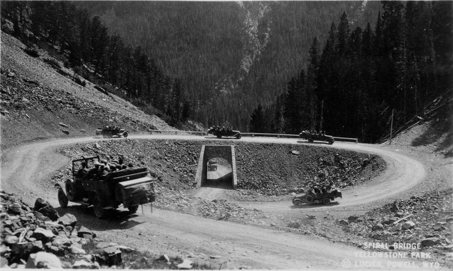 spiral bridge 1924 yellowstone