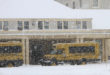 snowcoaches at mammoth hot spring hotel 2012