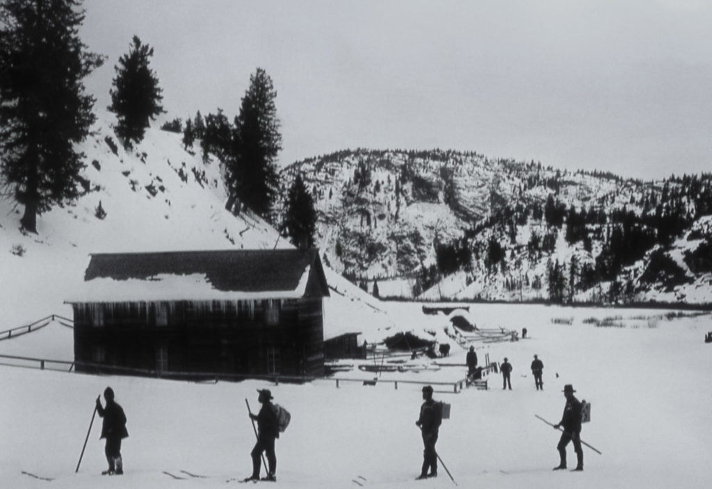 Winter 1887 Haynes expedition, Yancey's Hole;Photographer unknown;No date