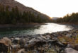 Fall sunrise over the Yellowstone River